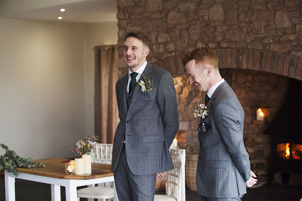 groom and best man quantock lakes barn
