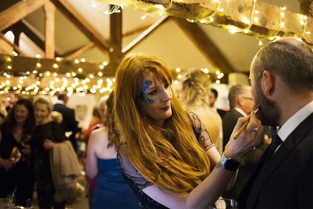 wedding face glitter