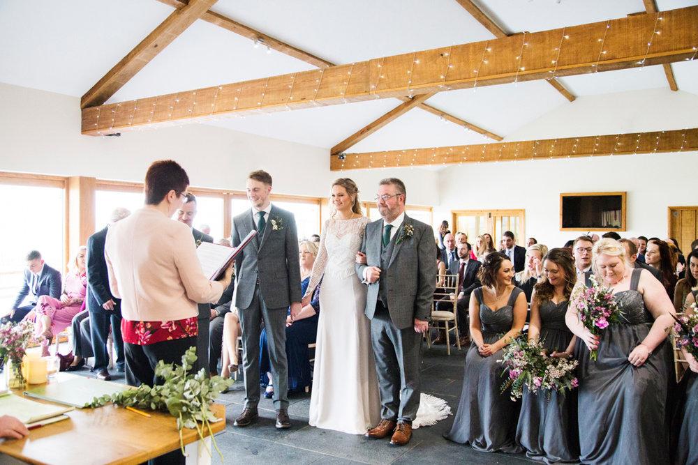 quantock lakes wedding ceremony