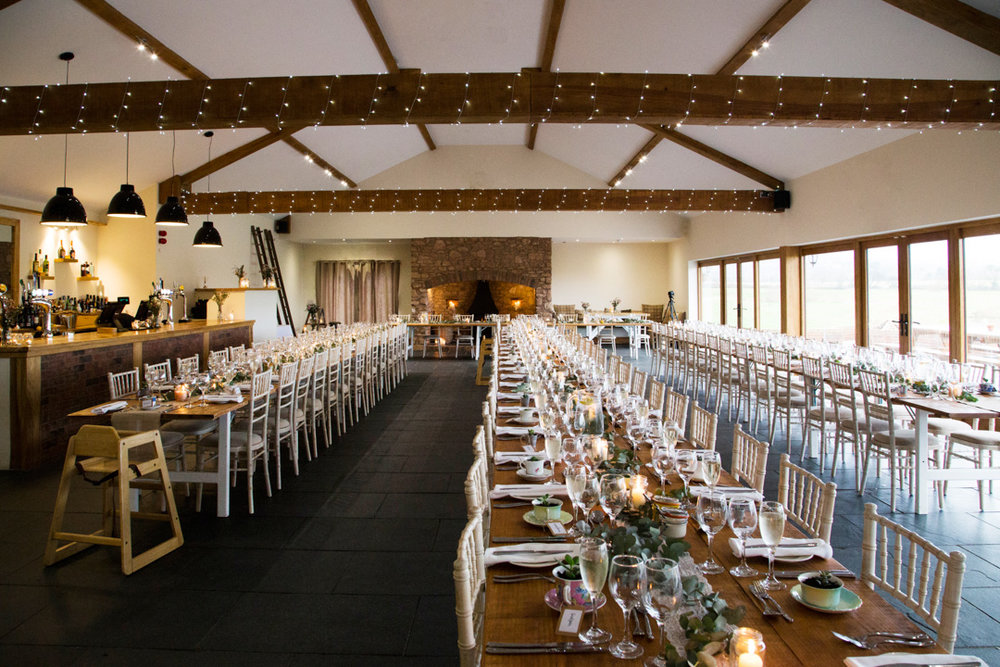 quantock lakes wedding breakfast