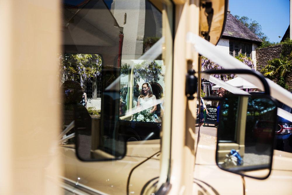 Austin motor wedding car