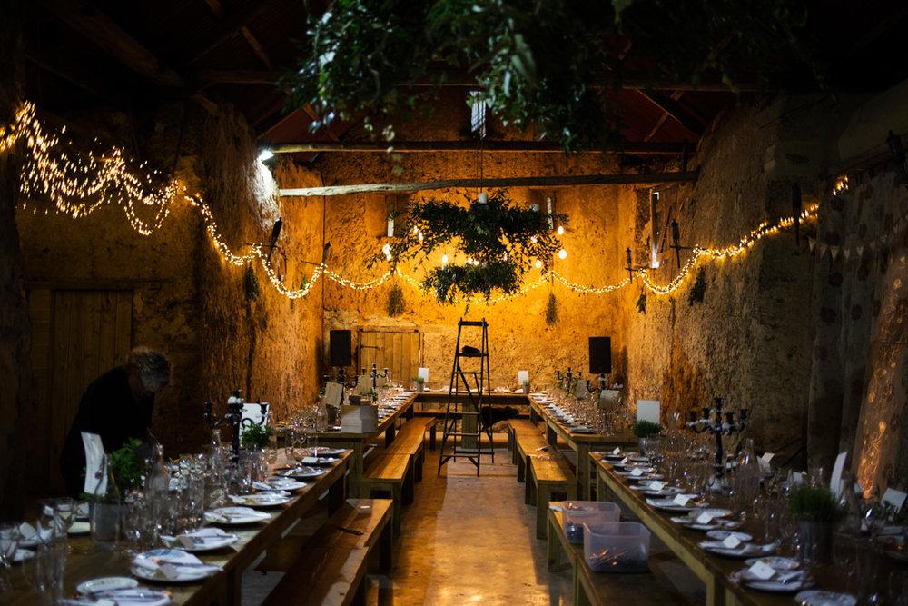 Higher Eggbeer Barn wedding breakfast