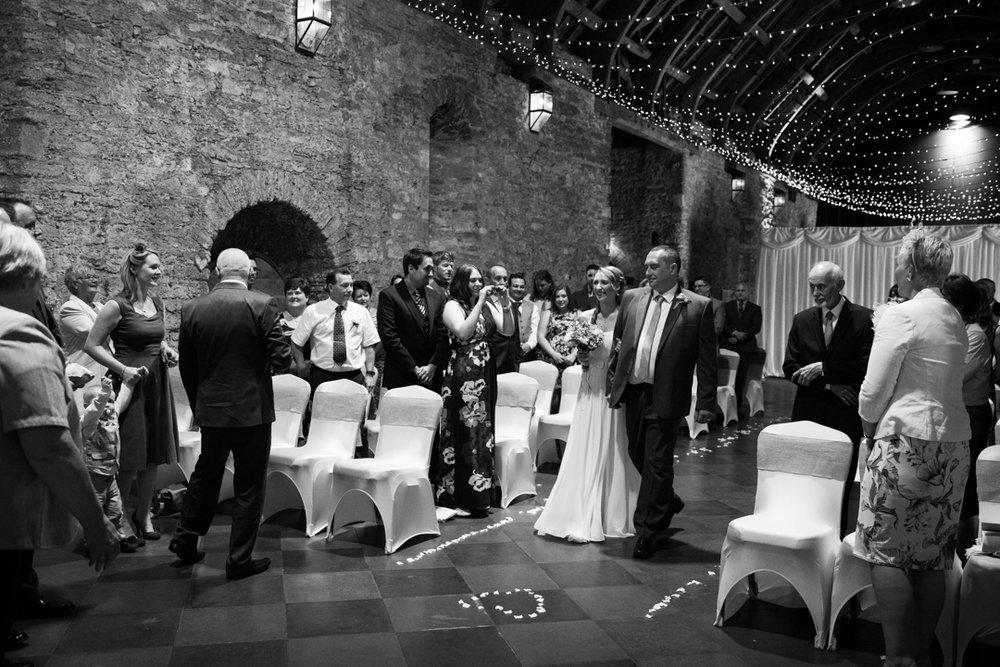 The Spanish Barn - wedding ceremony