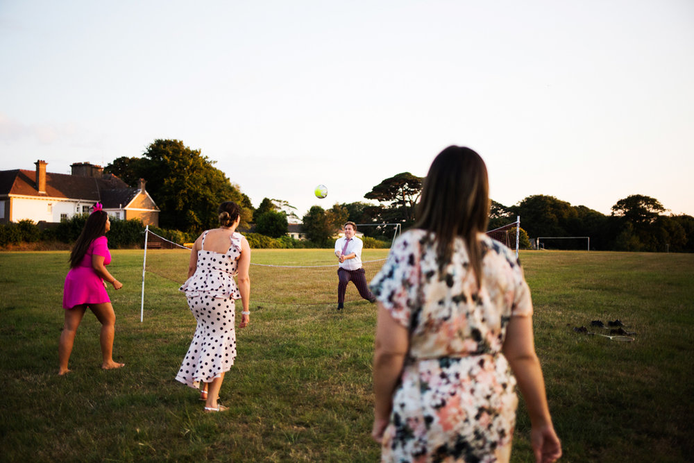 wedding volley ball