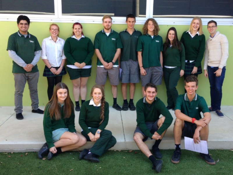 Students from Wanganui Park Secondary College in Shepparton before their March 2015 work experience camp.