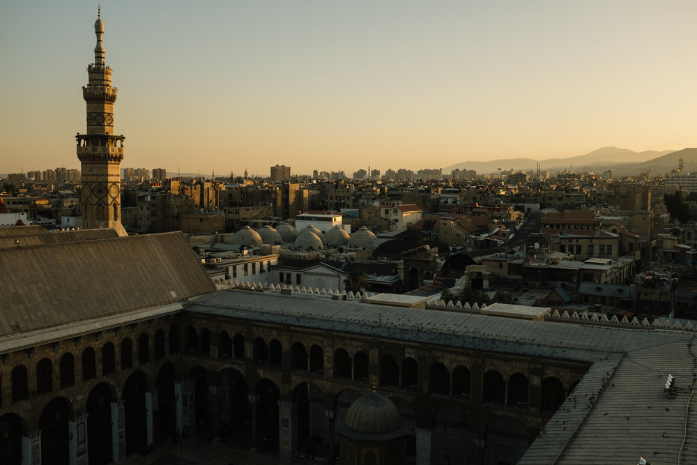 Sunset from the minaret of the Ummayyad Mosque. | Damascus - July 2016