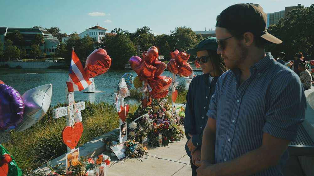 A day after getting back to NYC from Orlando for news coverage, I returned with Ellen Page and Ian Daniel to shoot a documentary honoring victims of the tragedy and show how a community carries on. #OrlandoStrong | Orlando - June 2016