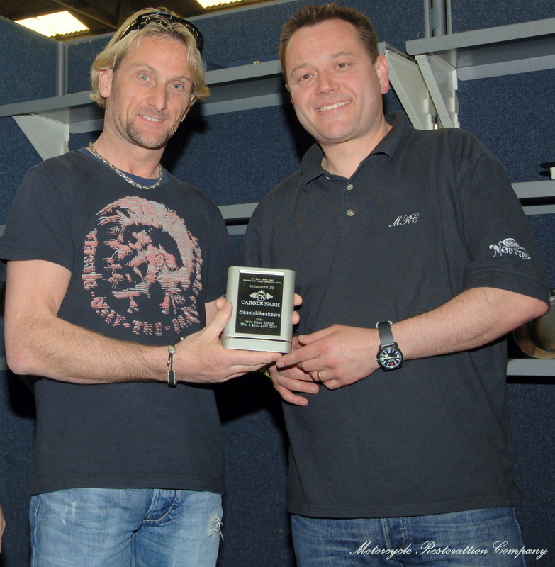 Chris Daniels Receiving an award at the Stafford Show