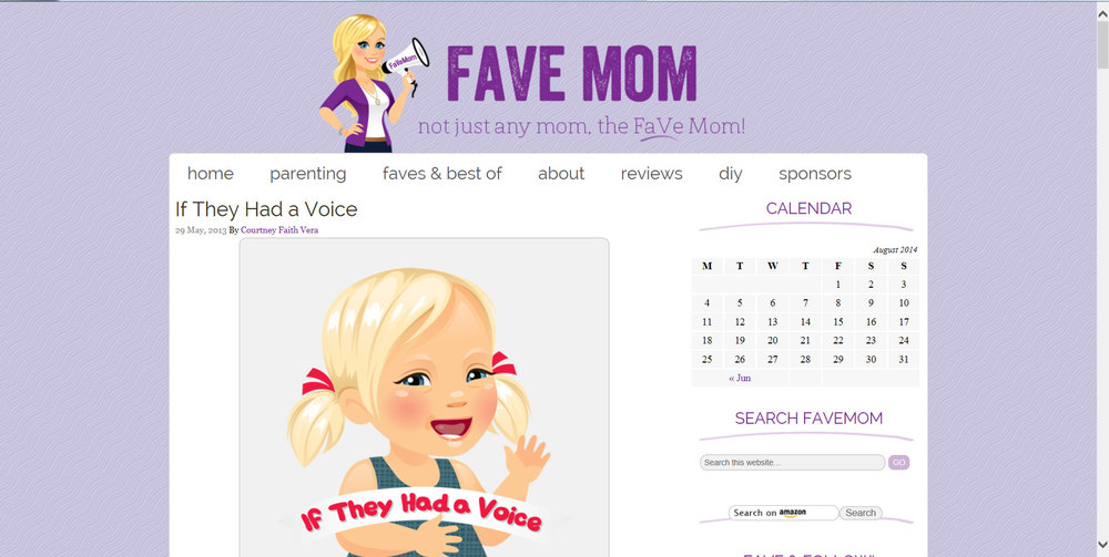 Our Story on Favemom.com
