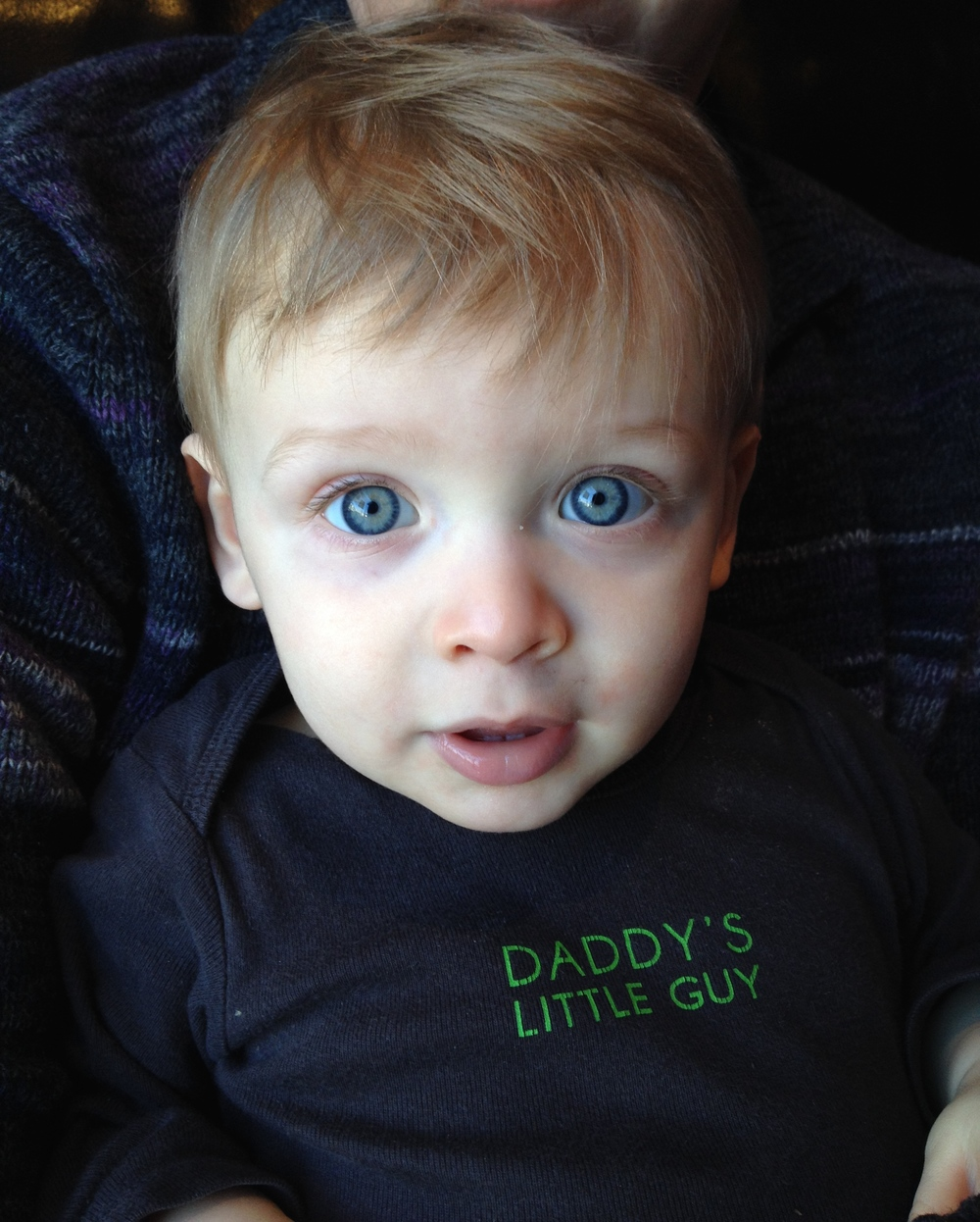 For some reason this is one of my favorite pictures. This is the Ben, with his blue eyes, that I remember in my dreams. This is the photo I finally downloaded as my iPhone screen to greet me every day.