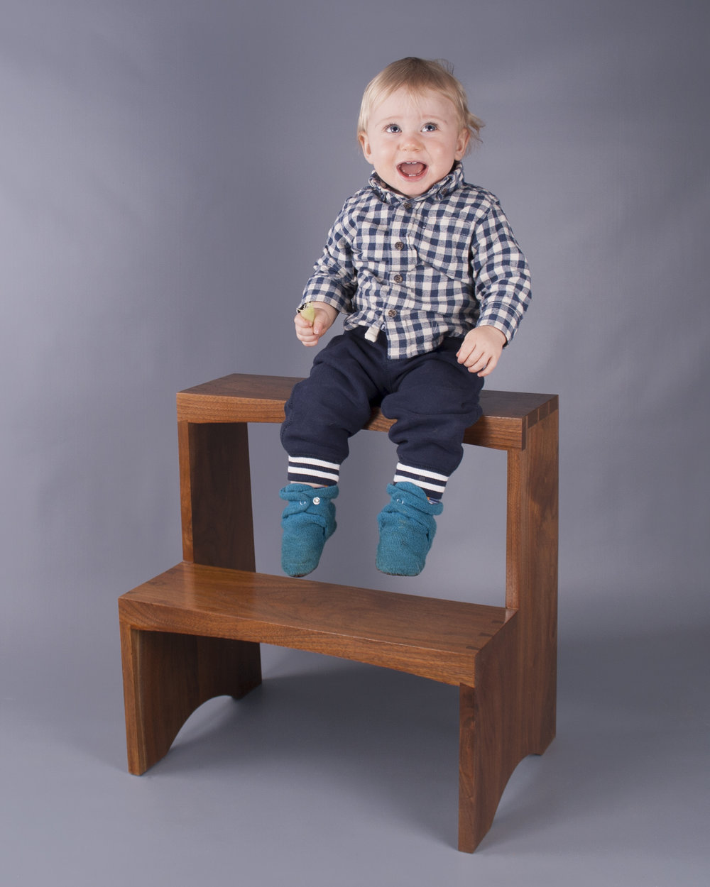 LITTLE THEO ON HIS VERY OWN STOOL.  2014