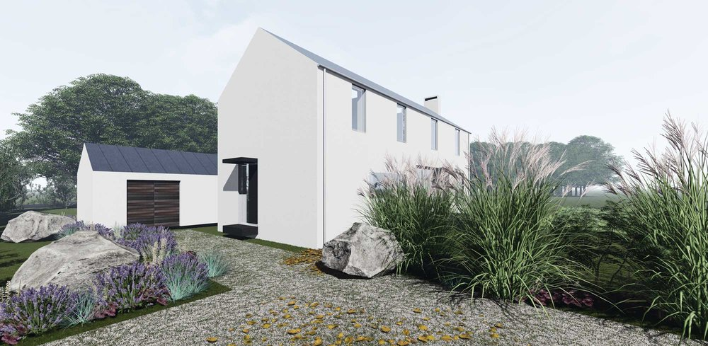 The house is designed to be compact, energy and cost efficient.