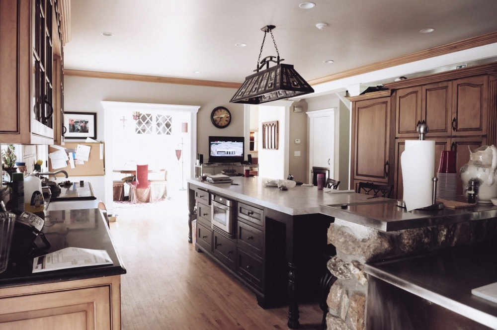 The family's kitchen, located in the home's new extension.