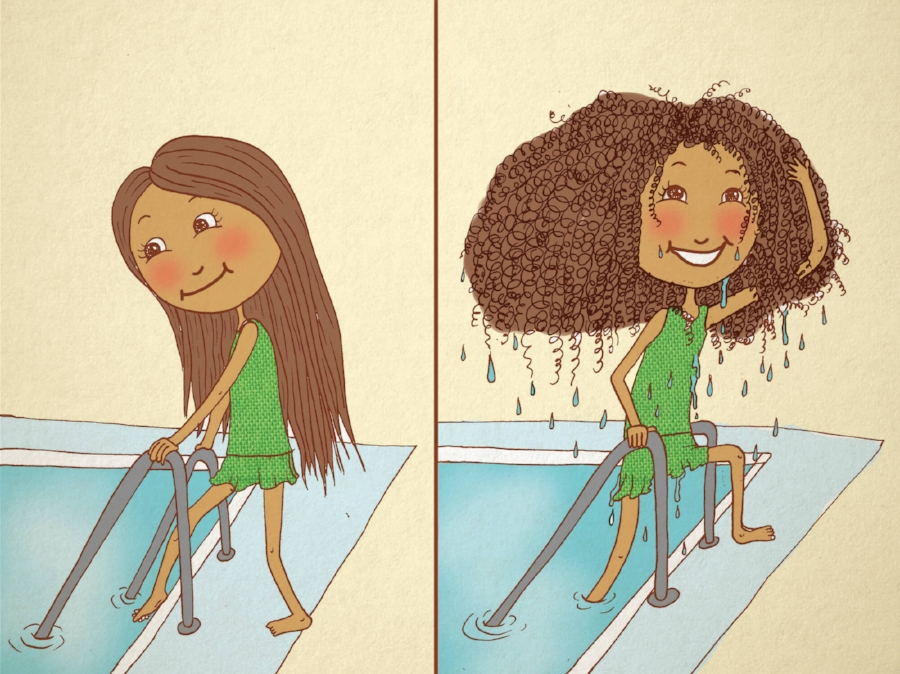 From the children's book,  Jamie Loves Her Natural Hair
