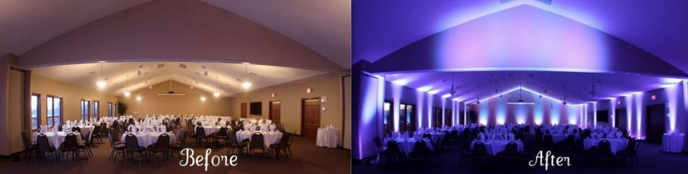 Lighting that can drastically change the feel of the room...