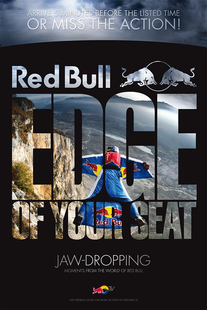 Red Bull Edge Of Your Seat | Poster | 2