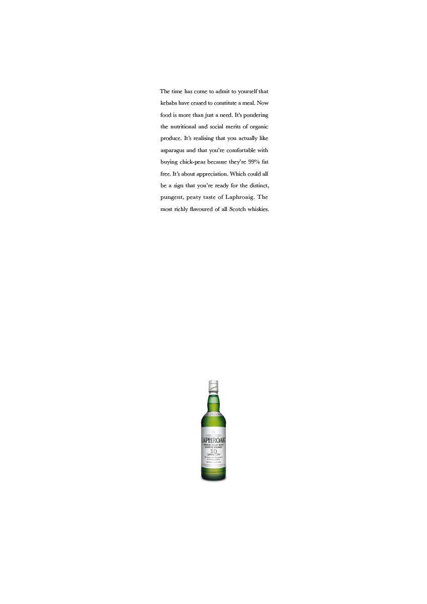 Laphroaig | Press Ad | Asparagus