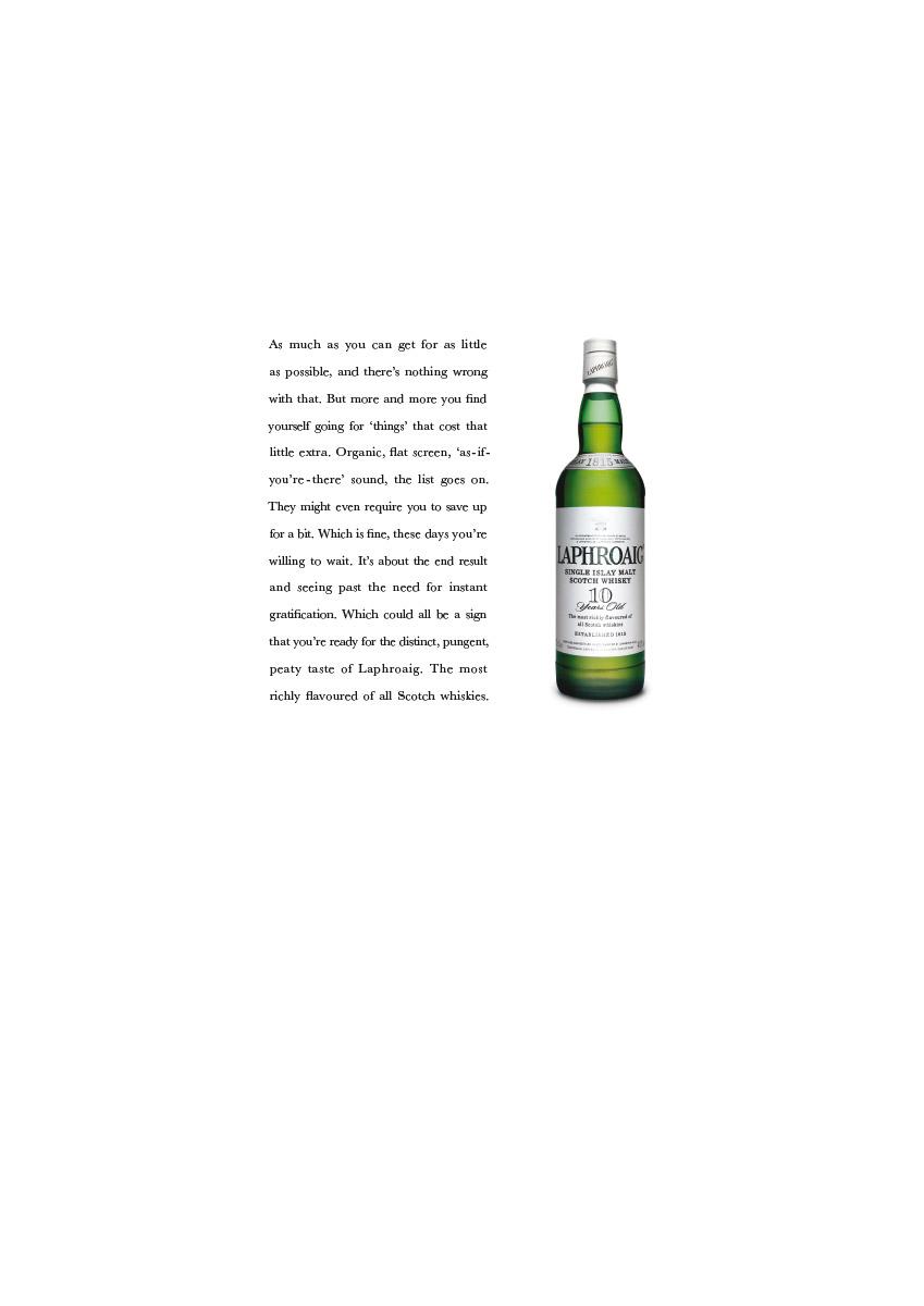 Laphroaig | Press Ad | Organic