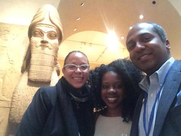 Sandra Jackson Dumont, Beverly Gooden, and Sree Sreenivasan at The Met Museum