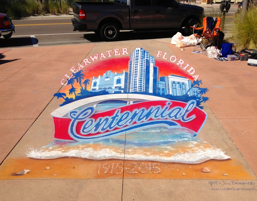3D Chalk Advertisement: Clearwater Centennial