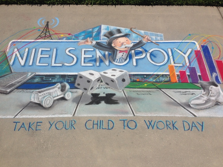 2D Chalk Advertisement: Nielsen