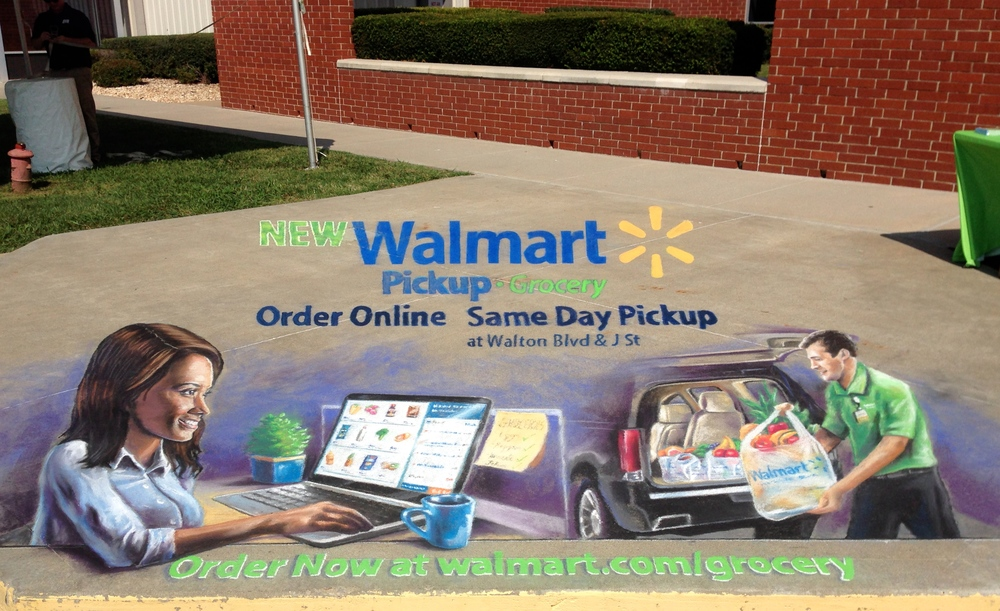 3D Chalk Advertisement: Walmart I