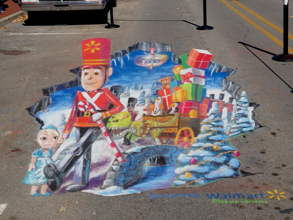 3D Chalk Advertisement: Walmart II