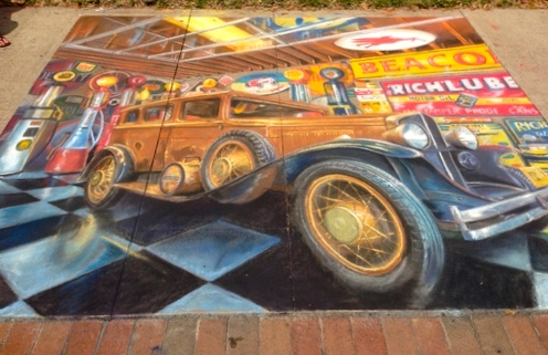 2D Chalk Art: Woody Car