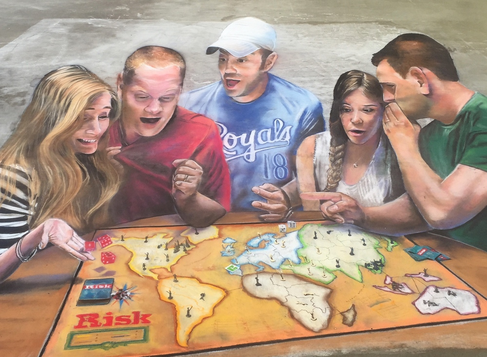 "3D Chalk Art: ""Friendships at Risk"""