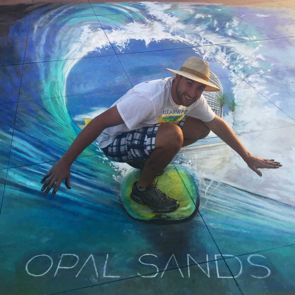 3D Chalk Advertisement: Opal Sands
