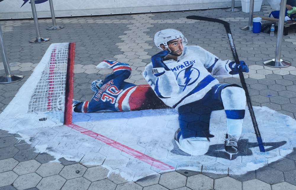 3D Chalk Advertisement: Lightning Score