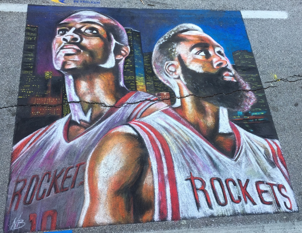 2D Chalk Art: Houston Rockets