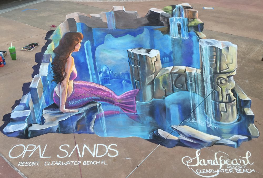 3D Street Paining: Mermaid Lagoon