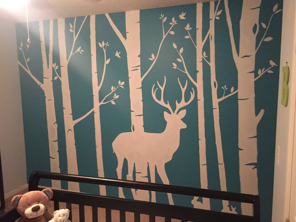 Serene Nursery Mural