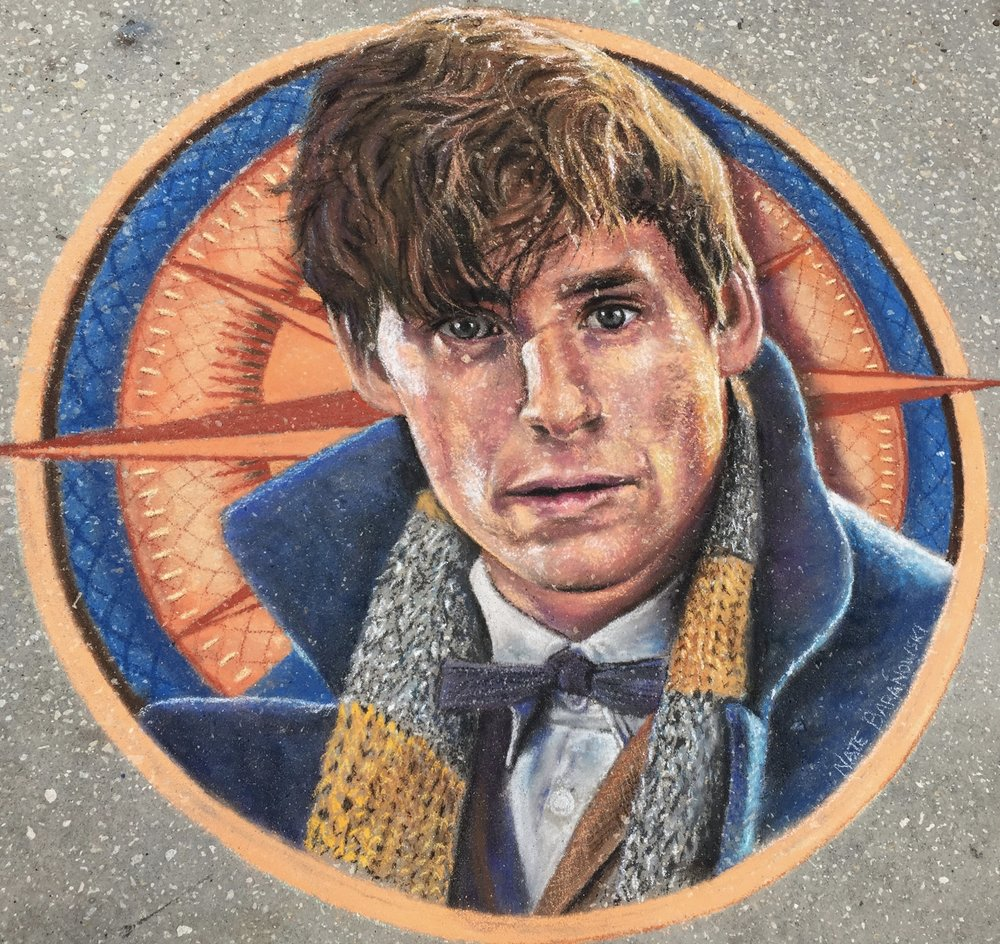 2D Chalk Art: Fantastic Beasts
