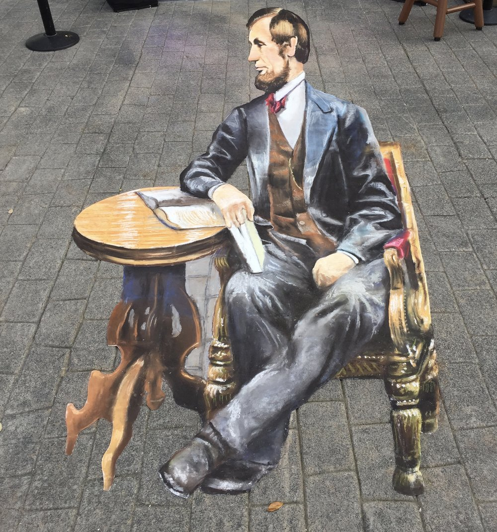 3D Chalk Art: Lincoln