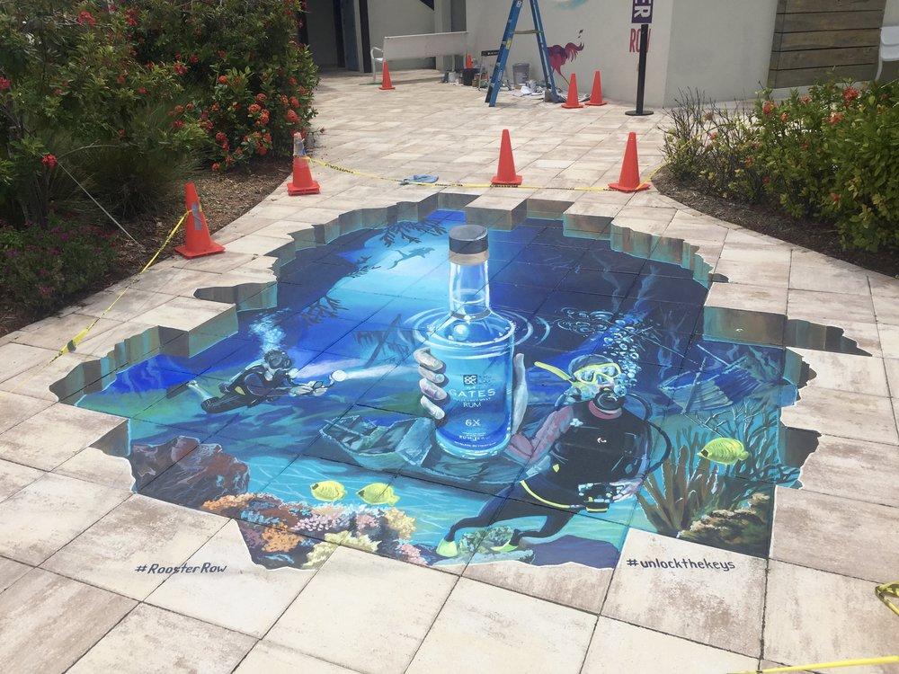 3D Street Painting: Underwater