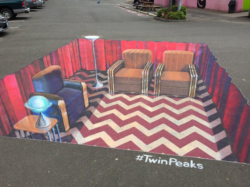 3D Street Painting: Twin Peaks