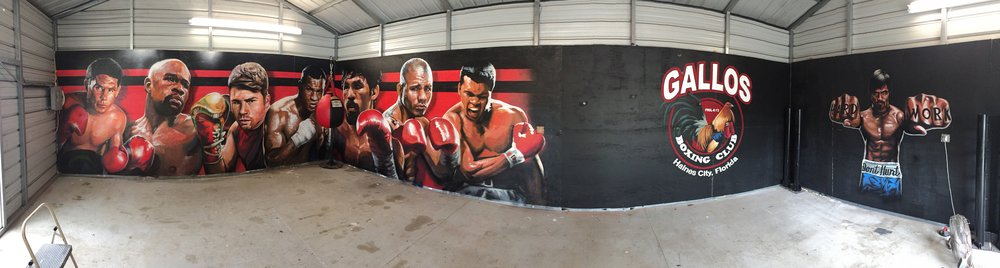 Panorama of all 3 murals