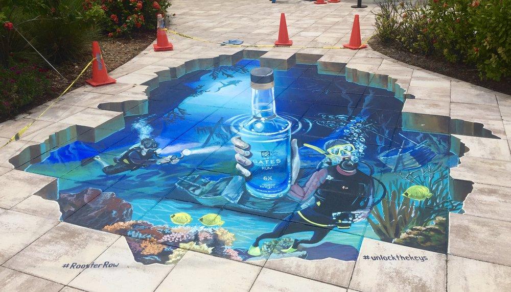 Underwater 3D Street Painting