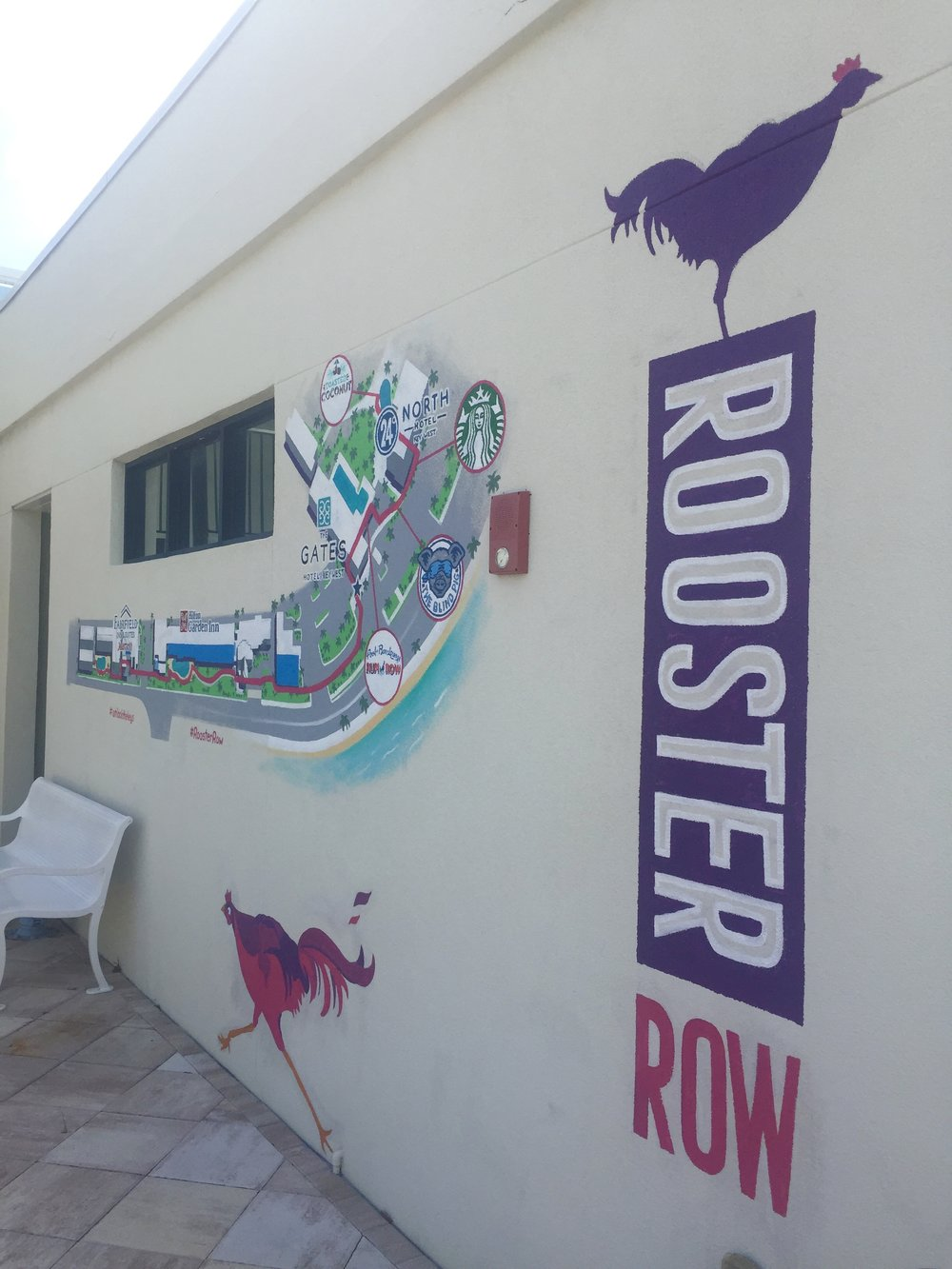 Rooster Row Map Mural