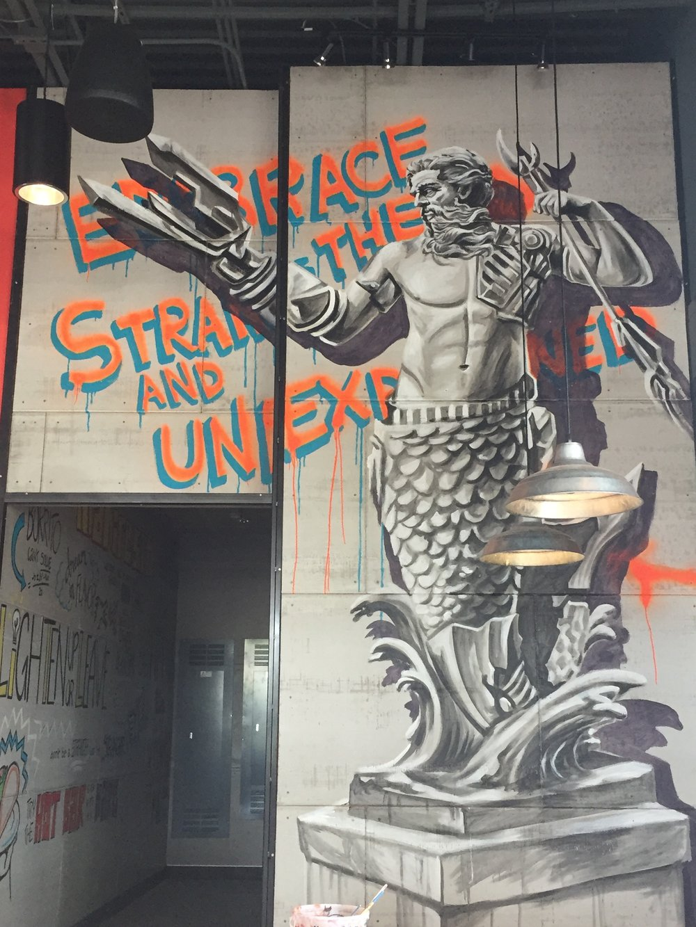 """Vandalized"" bionic merman colossus"