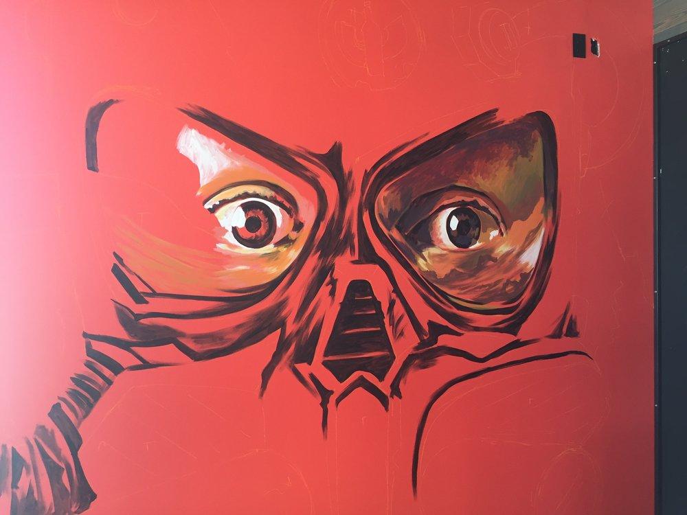 Gas mask eyes