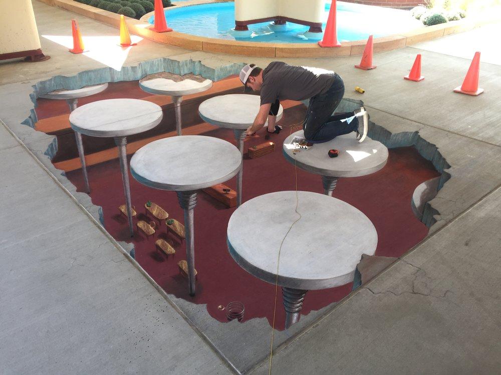 Chris Carlson hard at work