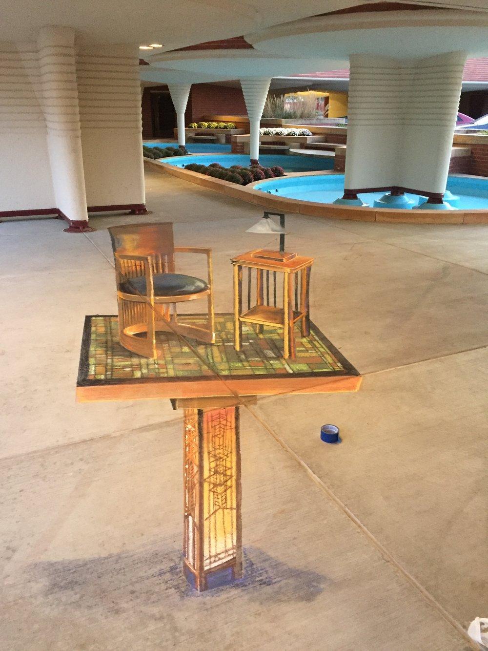 3D Frank Lloyd Wright Furniture