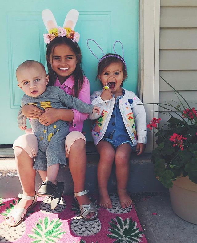 happy 🐰easter from these 3 bunnies
