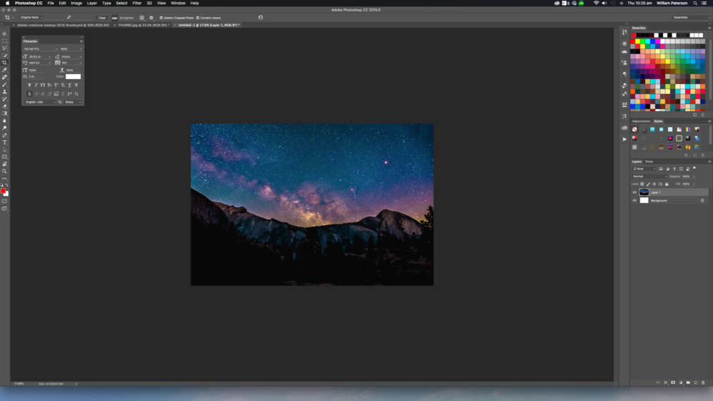You can see in the finished image that Photoshop CC has created more of the image.