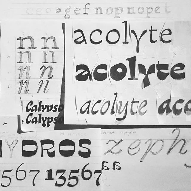 Had a super chill weekend taking @ohnotypeco's TypeCooker workshop @coopertype. If you ever have the chance, James is an instructor of the highest caliber: rigorous, affable, and a fount of fonts.