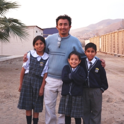 Left to right: Cecilia, Luis sr, emma, and luis jr