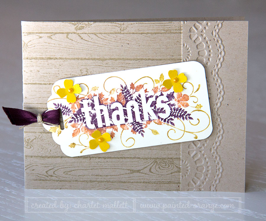 Seasonally Scattered THANKS Card. Stampin' Up!